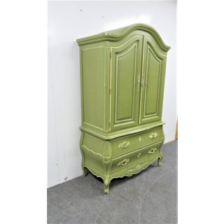 Louis XV Style Green & Cream Armoire Preview