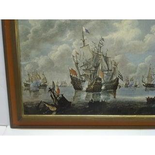 """Battling Ships"" Framed Print on Board Preview"