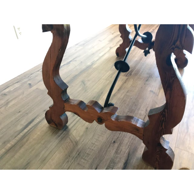 Late 19th Century 19th Century Spanish Trestle Table or Desk For Sale - Image 5 of 10