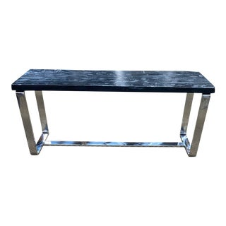 Timothy Oulton Wood & Metal Console For Sale