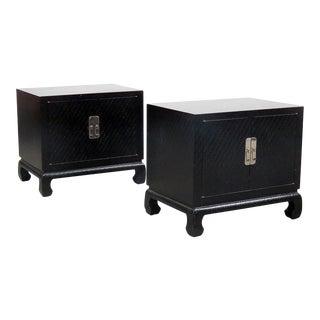 Baker Furniture Karl Springer Style End Tables - A Pair
