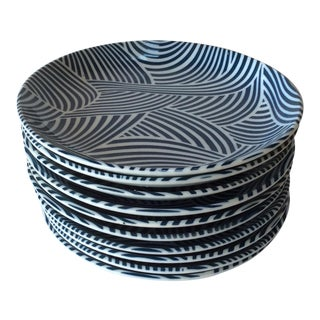Blue & White Dessert Plates - Set of 10