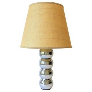 Mid-Century Modern Chrome Ball Desk or Table Lamp, Small For Sale