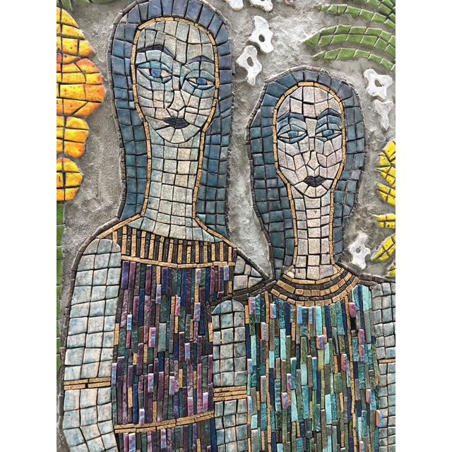 Abstract Expressionism Figurative Mosaic Wall Piece For Sale - Image 3 of 8