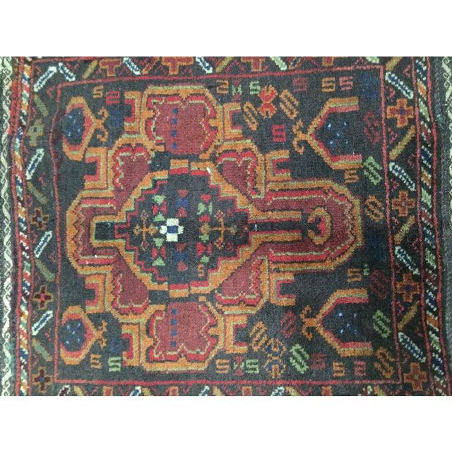 Vintage Balluchi Persian Rug - 1'8 x 1'11 - Image 4 of 10