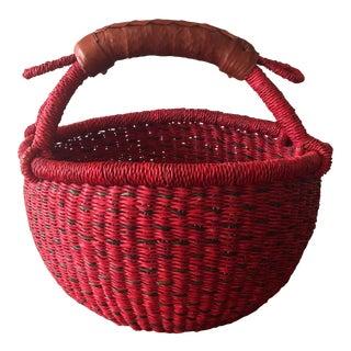 Red Fruit Shopping Basket