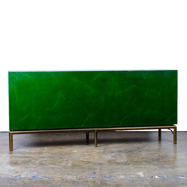 Asian 1970s Italian Malachite Lacquer Sideboard For Sale - Image 3 of 12