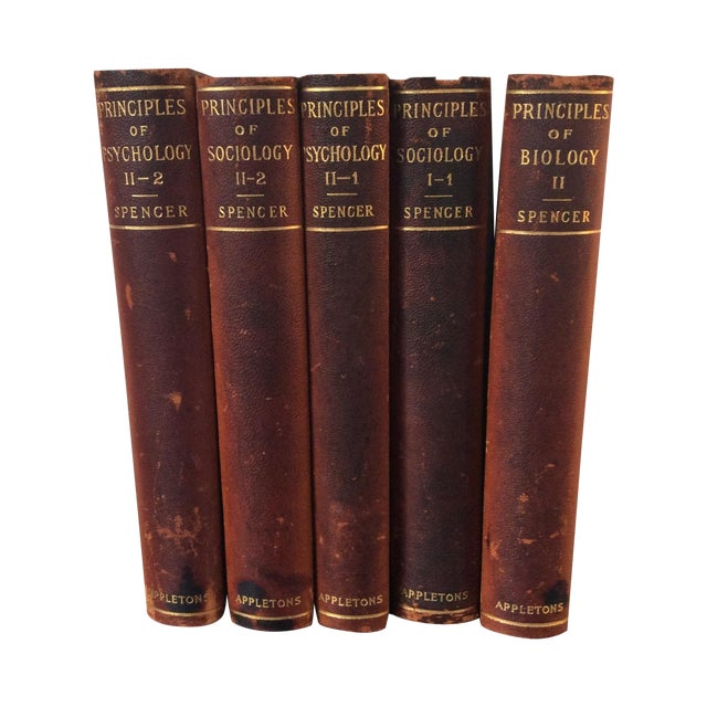 Antique Leather Books, 1897 - Set of 5 - Image 1 of 4