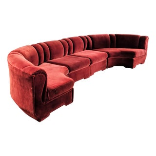 1970s Vintage Milo Baughman for Carlson Furniture Semi Circular Sofa For Sale