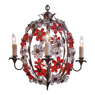 Pair of Vintage Cage Chandeliers For Sale