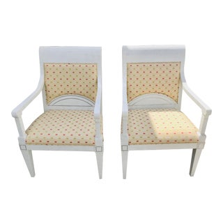 Vintage Maitland Style Tessellated Decorative Chairs - a Pair For Sale