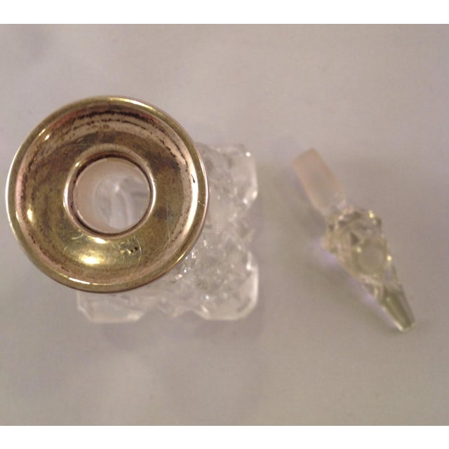 English Victorian Cut Glass Perfume Bottle For Sale - Image 4 of 6