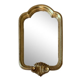 Vintage Italian Arched Top Gilt Mirror For Sale