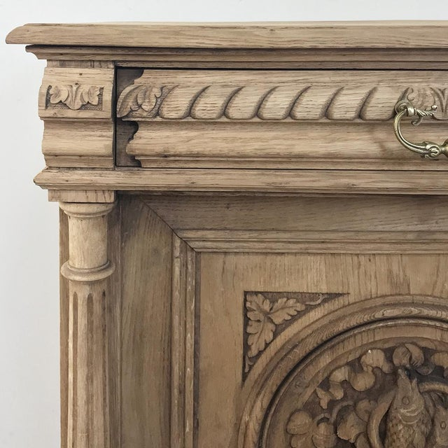 19th Century French Renaissance Stripped Oak Buffet For Sale In Dallas - Image 6 of 13