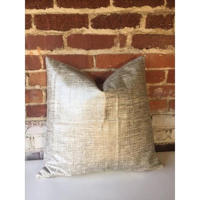 Platinum Metallic Linen Pillow Cover - Image 4 of 5