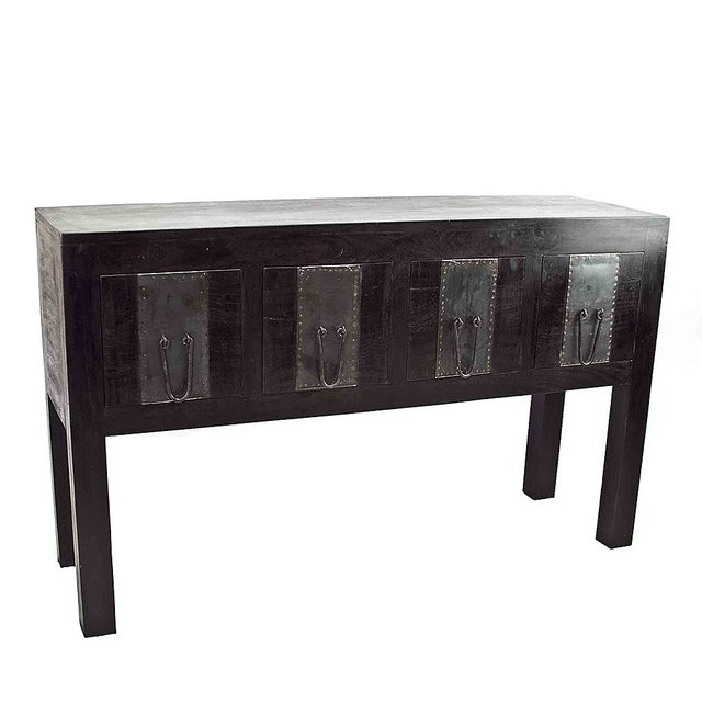 Rustic Ebony Thar Console For Sale - Image 3 of 3