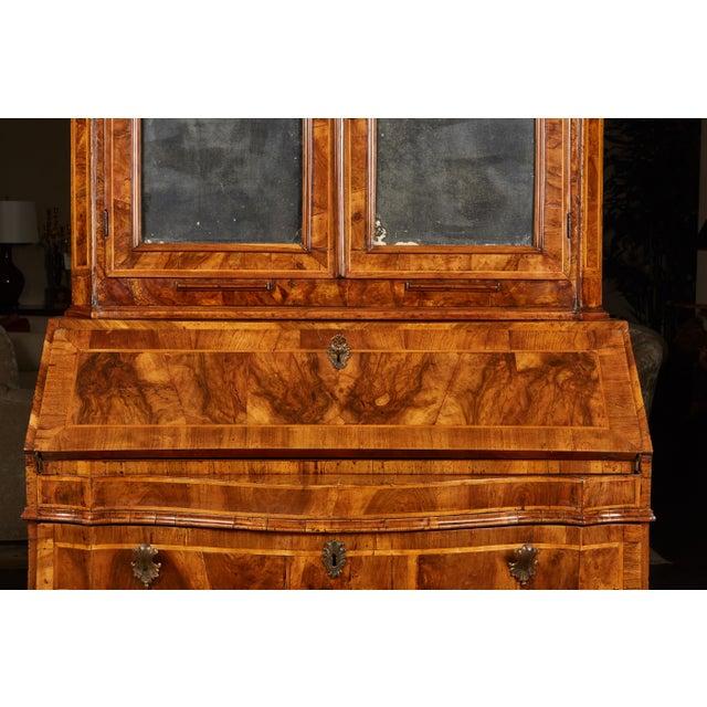 Rococo 18th Century Italian Baroque Walnut and Fruitwood Secretary For Sale - Image 3 of 9