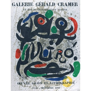 Lithograph Poster by Joan Miro Oeuvre Grave Et Lithographie Mourlot For Sale