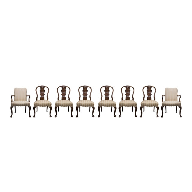 Walnut 19th Century Fine Set of Eight Walnut Queen Anne Style Dining Chairs For Sale - Image 7 of 7