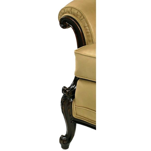 Early 20th Century Early 20th Century Rolled-Arm Club Chair in Ultra Suede For Sale - Image 5 of 7