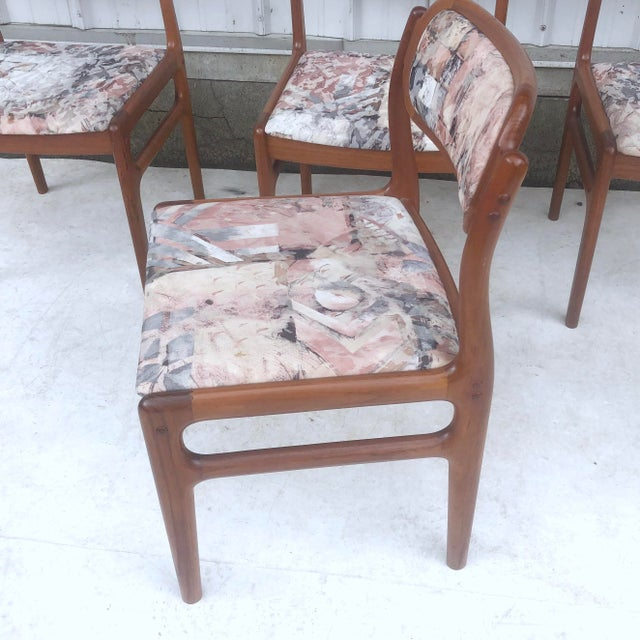 Mid-Century Modern Sculpted Teak Dining Chairs- Set of Four For Sale - Image 9 of 13