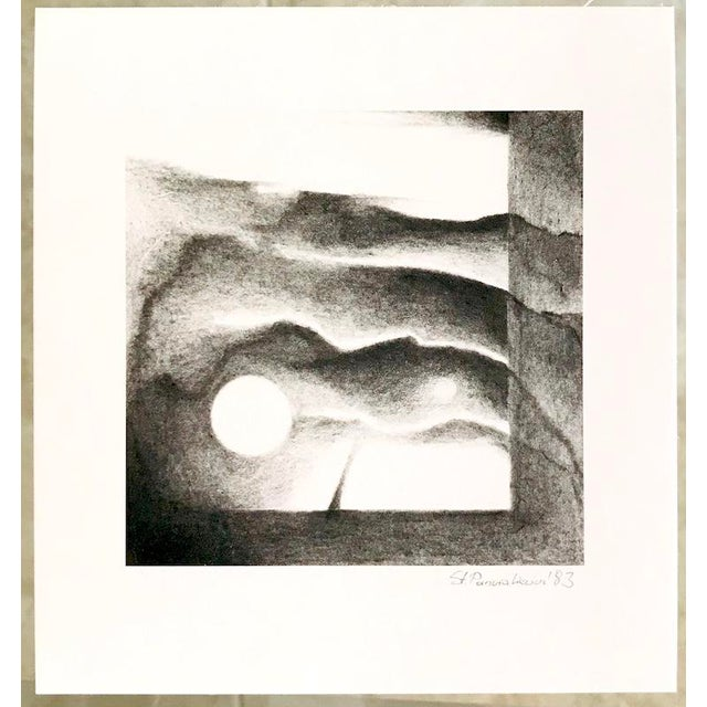 1980s 1983 Abstract Landscape Lithograph by Stanislaw Panzakiewicz For Sale - Image 5 of 5