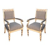 Image of Pair of Charles Pollock for William Switzer Russian Imperial Arm Chairs For Sale