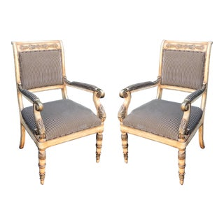 Pair of Charles Pollock for William Switzer Russian Imperial Arm Chairs For Sale