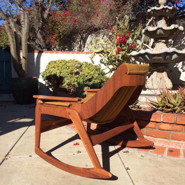 Mid-Century Sculptural Rocking Chair by Jerry Johnson For Sale In San Diego - Image 6 of 11