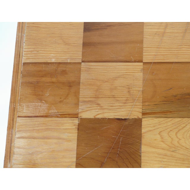 Monumental Wood Case Chess Set W/ Plaster Chess Pieces For Sale - Image 9 of 11