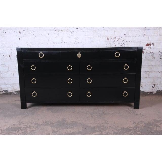 Baker Furniture Hollywood Regency Ebonized Long Dresser For Sale - Image 13 of 13