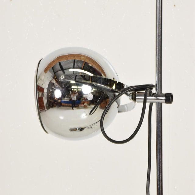 Robert Sonneman Mid Century Modern Chrome Floor Lamp by Robert Sonneman For Sale - Image 4 of 10