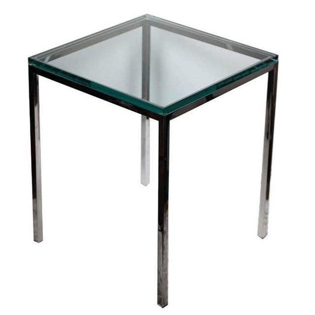Polished Chrome and Glass Side Table by Brueton C. 1974 - Image 1 of 4