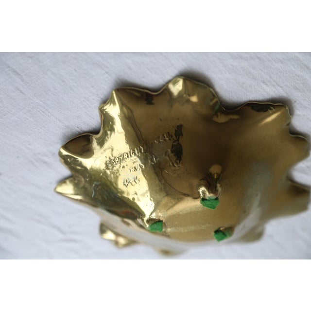 Brass Round Leaf Dish For Sale - Image 4 of 5