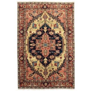 RugsinDallas Hand Knotted Wool Persian Serapi Style. Romanian Rug - 5′11″ × 9′ For Sale