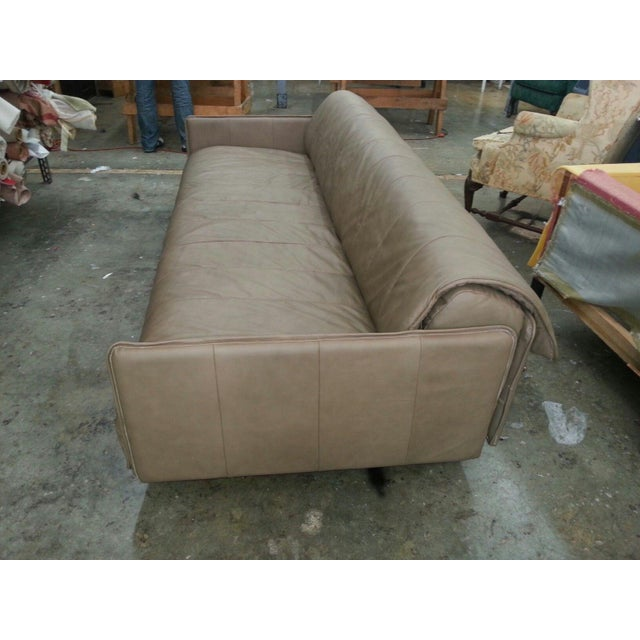 Animal Skin 1986 Mid-Century Modern De Sede Leather Sofa For Sale - Image 7 of 12