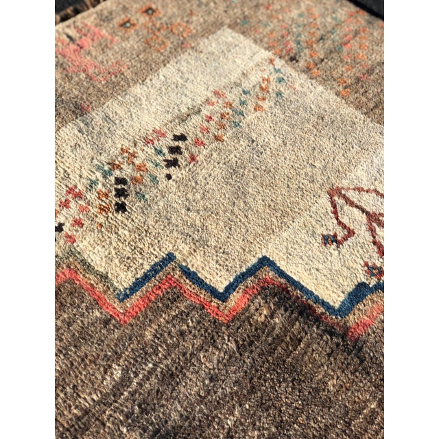 1970s Vintage Persian Gabbeh Rug - 4′9″ × 8′3″ For Sale - Image 9 of 13