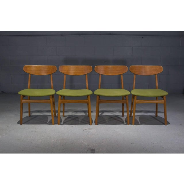 Danish Modern Teak Dining Chairs- Set of 4 For Sale - Image 4 of 10