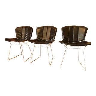 Mid Century Original Harry Bertoia Side Chairs- Set of 3 For Sale