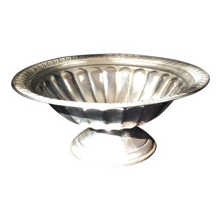 Sterling Silver Pedestal Candy Dish For Sale