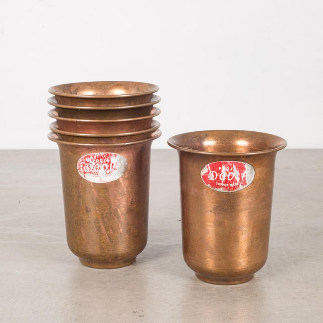 Copper Set of Copper Ware Picnic Cups C.1950 - Set of 6 For Sale - Image 8 of 8