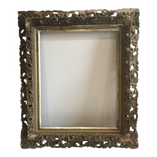 Antique Gilded Gold Frame For Sale