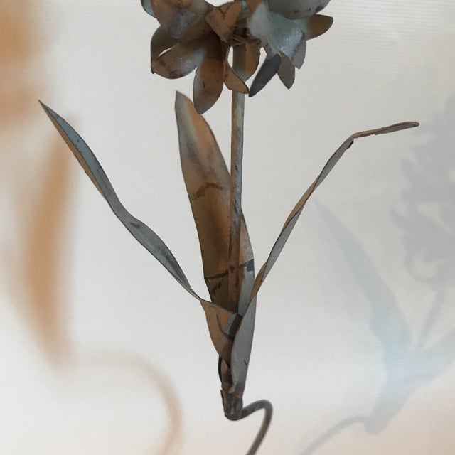 Metal Tole Hyacinth Sculpture For Sale - Image 7 of 11