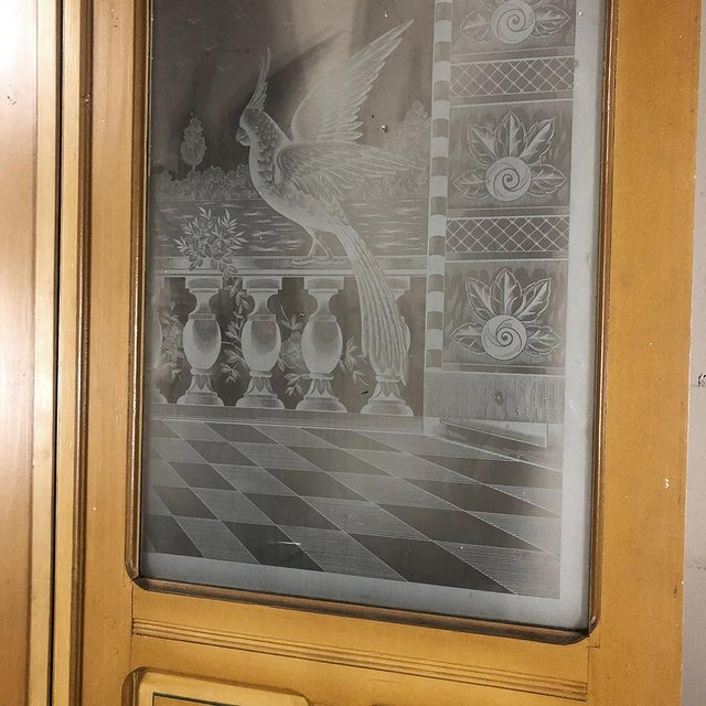 Pair 19th Century Etched Glass Interior Doors For Sale - Image 9 of 12