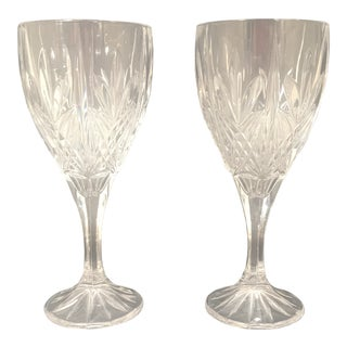 1990s Vintage Waterford Crystal Kincora Wine Glasses - A Pair For Sale