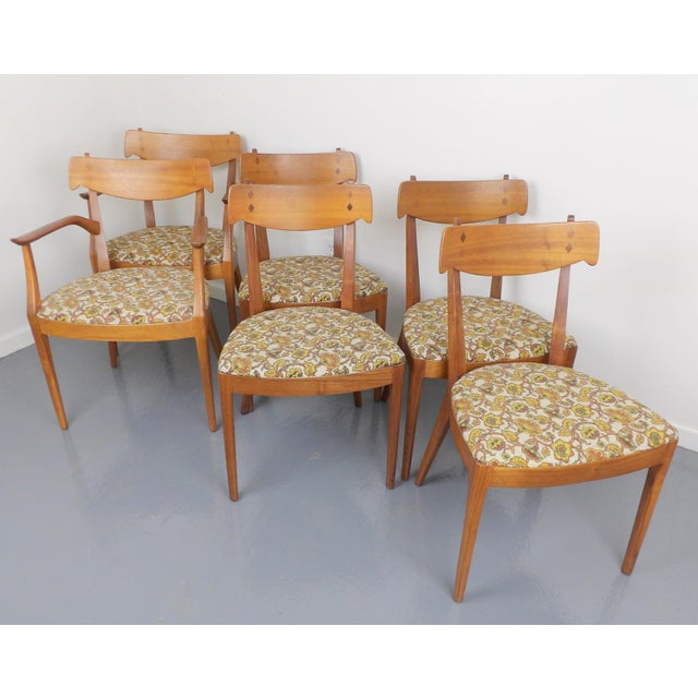 Mid-Century Modern Mid Century Modern Walnut Dining Table, Leaves & 6 Chairs Set Kipp Stewart for Drexel Declaration For Sale - Image 3 of 8