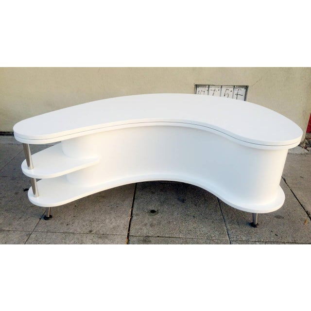 Rare Mid-Century Modern Coffee Table With Collapsi - Image 3 of 9