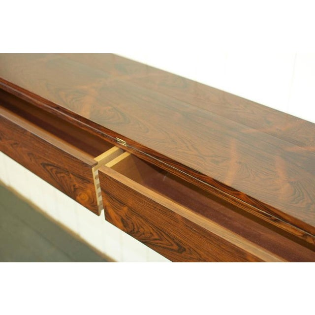 Brown Flip Top Rosewood Console by Arne Hovmand-Olsen For Sale - Image 8 of 8