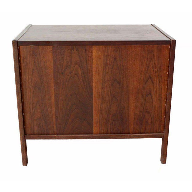 Brown Danish Mid-Century Modern Walnut End Table For Sale - Image 8 of 9