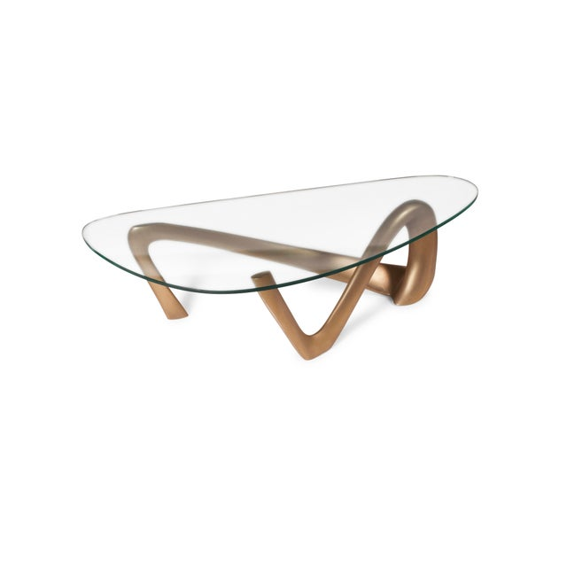 Amorph Iris Coffee Table - Gold Finish For Sale - Image 9 of 9